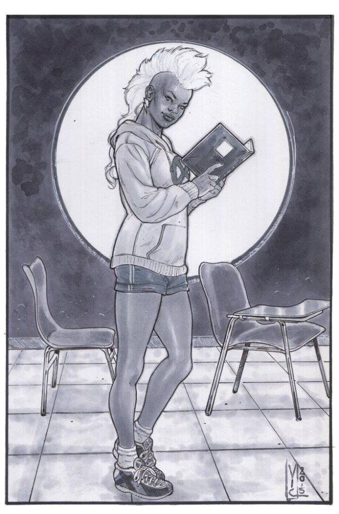 "I call it Nerdy Ororo. The guys at TheArt4You captioned it ""A Storm le gusta la lectura""."