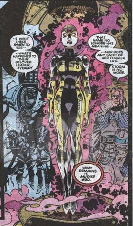 Storm gets branded and brainwashed during X-tinction Agenda (1990)