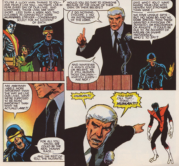 From God Loves, Man Kills, by Chris Claremont and Brent Anderson