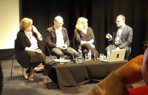 Photo of Alison Graham, David Butcher, Jane Rackham and David Brown giving the talk